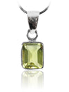 Small Rectangular Pendant Lemon Topaz