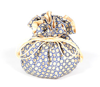 Jewelry Pouch Floral: Black and Blue