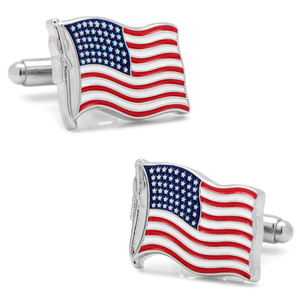 Waving American Flag Cufflinks