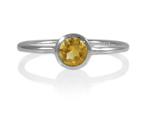 Bilbao Stacking Ring Citrine