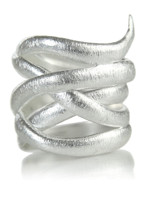 Bilbao Brushed Twist Ring