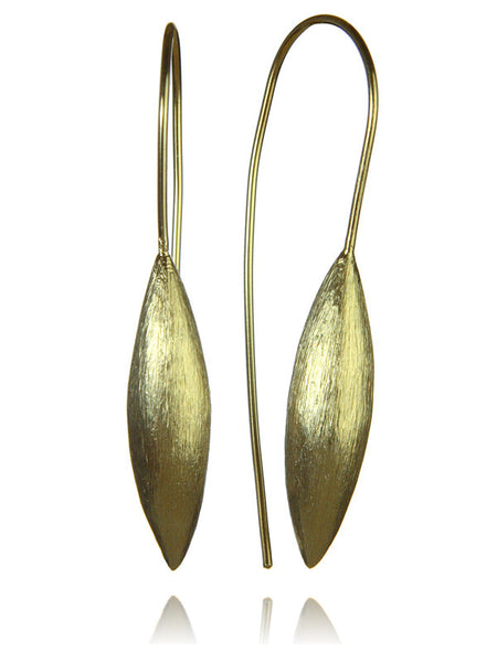 18K Gold Plated Amazon Brushed Seed Drops