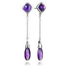 Capri Two Stone Long Drops (Amethyst)