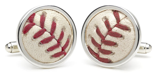Recycled MLB Baseball Cufflinks