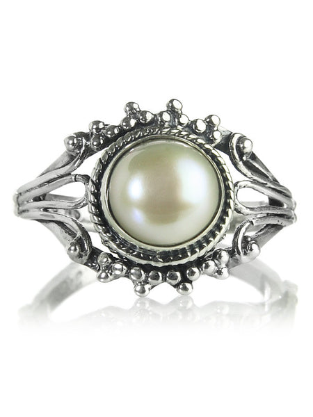 Jaipuri Traditional Pearl Filigree Ring