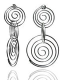 Three Swirl Earrings
