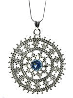 Medium Jaipuri Kundun Medallion (Blue Topaz)