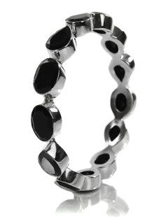 Peacock Gemstone Bangle (Black Onyx)