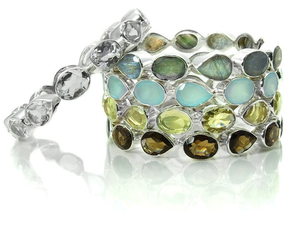 Peacock Gemstone Bangle (Lemon Topaz)