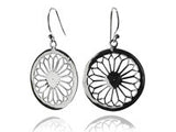 Single Arabesque Cut Out Earrings