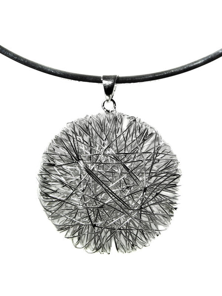 Egyptian Zamalek Wire Criss Cross Circle Pendant