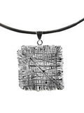 Egyptian Zamalek Wire Criss Cross Square Pendant