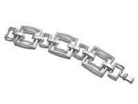 Large Brushed Square Linked Bracelet