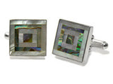 Double Framed Abalone Cufflinks