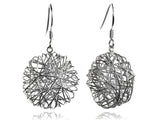 Egyptian Zamalek Silver Wire Criss Cross Circle Earrings