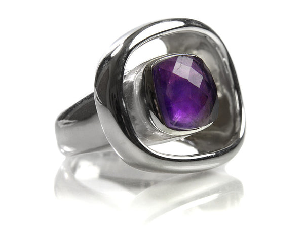 Art Deco Stone Pop Ring (AM)
