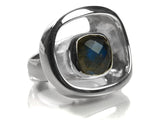 Art Deco Stone Pop Ring (LAB)