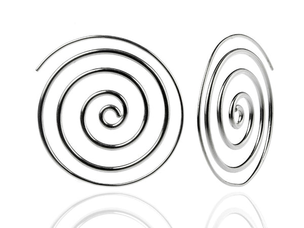Large Concentric Swirl Earrings