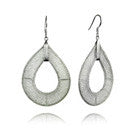 Silver Milano Mesh Tear Drop Earrings