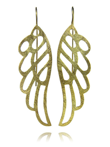18K Gold Plated Amazon Butterfly Earrings