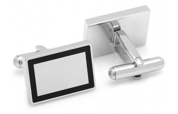 Stainless Steel Rectangle Framed Cufflinks