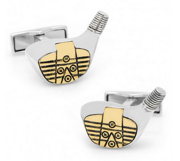 Sterling Vintage Gold Driver Cufflinks