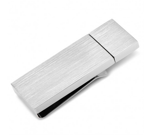 Brushed Silver 8GB USB Money Clip