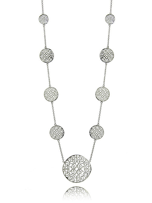 11 Disc Arabesque Long Necklace