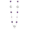 Arabesque Filigree & Stone Necklace (Amethyst)