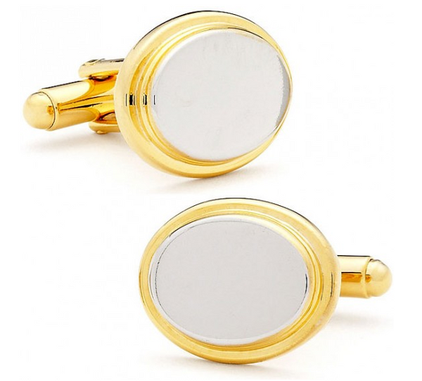 Two Toned Oval Cufflinks