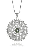 Medium Kundum Medallion (Green Amethyst