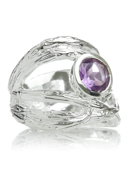 Amazon Twisted Ring with Stone (Amethyst)