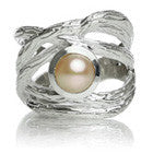 Amazon Twisted Ring with Stone (Pink Pearl)