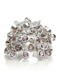 25 Stone Dangle Ring - Amethyst