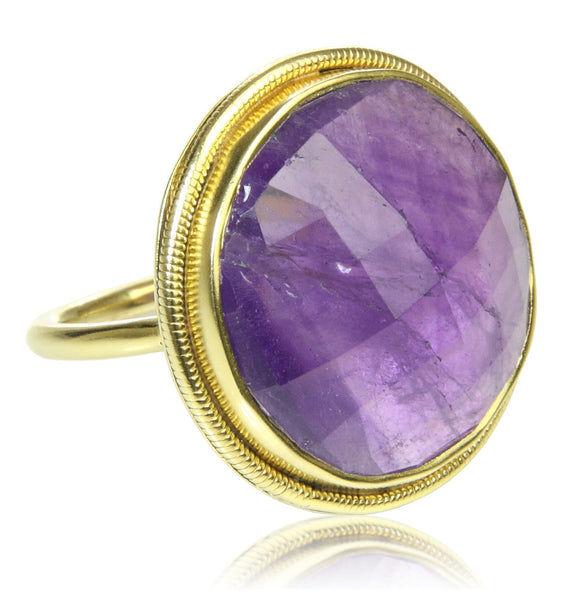 Papal Cocktail Ring - Amethyst