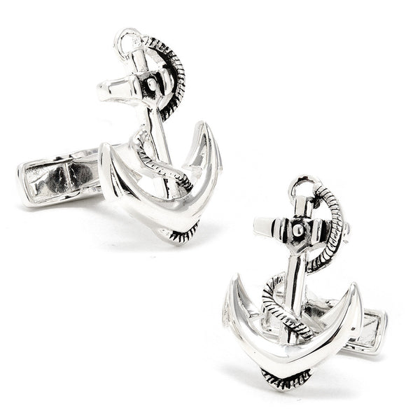 Sterling Boat Anchor Cufflinks
