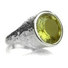 Gaudi Pointalism Circle Cocktail Ring Lemon Topaz