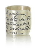 Spanish Lorca Poem Ring
