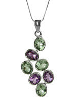 Jog Waterfall Pendant (Amethyst and Green Amethyst)