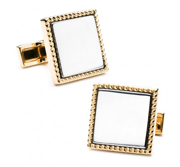 Square Two-Toned Cufflinks