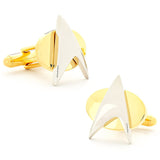 Two Tone Star Trek Delta Shield Cufflinks