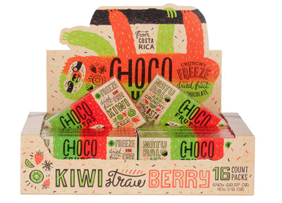CHOCOFRUTAS 16 pack Kiwi Strawberry