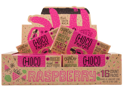 CHOCOFRUTAS 16 pack Raspberry
