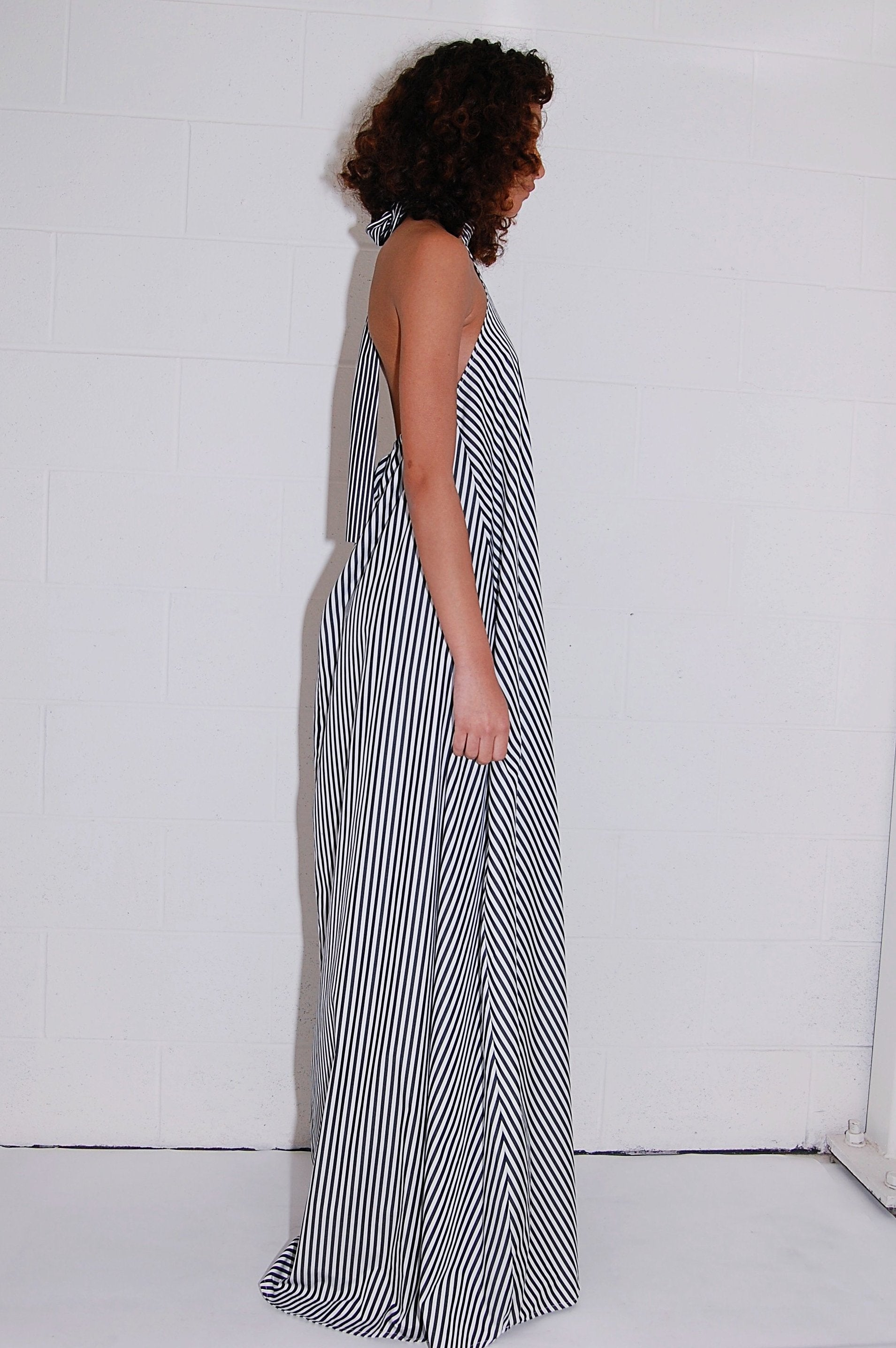 Taller Marmo Marcela Dress in Black and White Stripe - Curio Concept ...