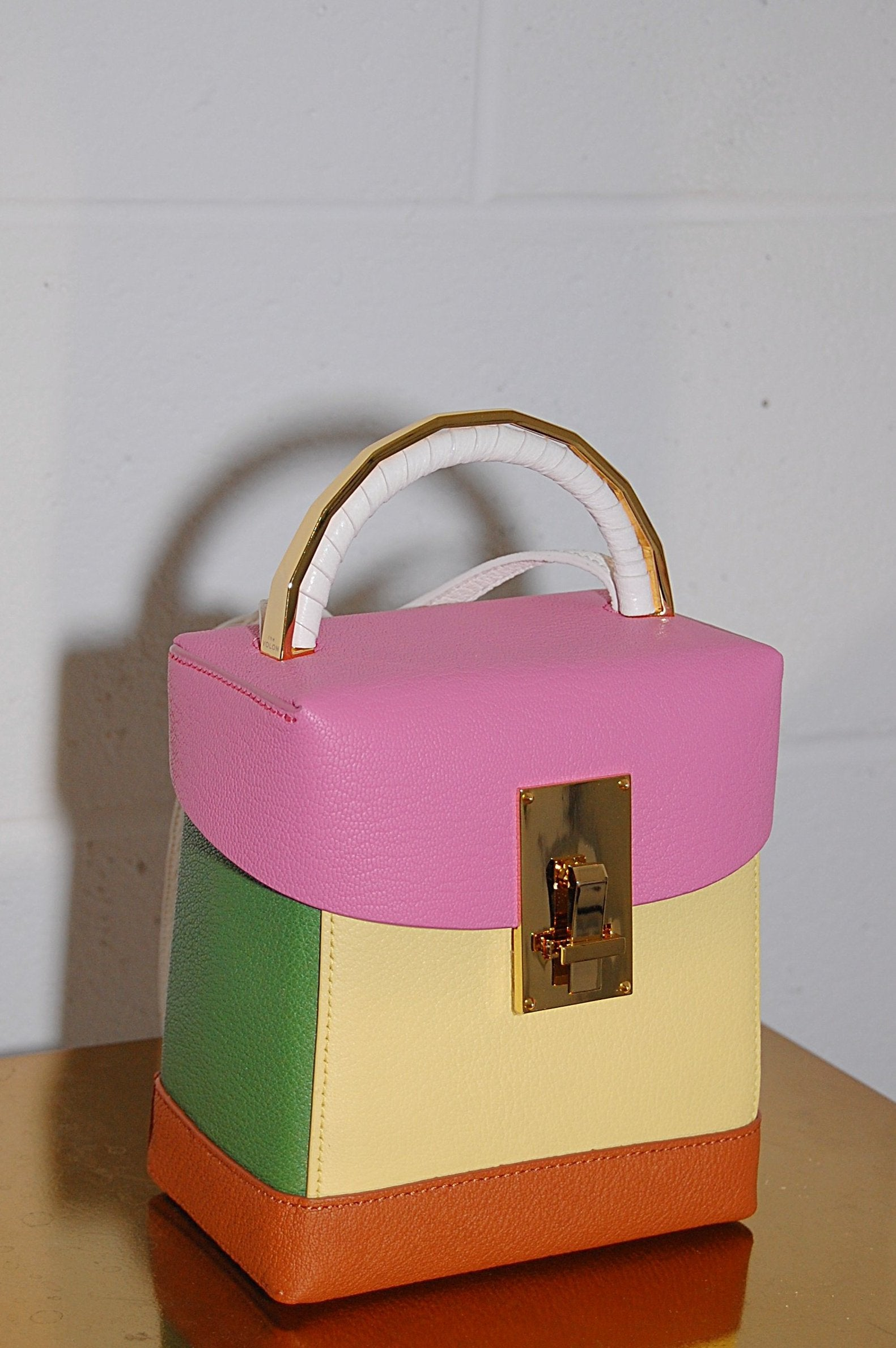 9d02996fe028 The Volon Great L. Box Bag in Pink and Yellow - Curio Concept Store