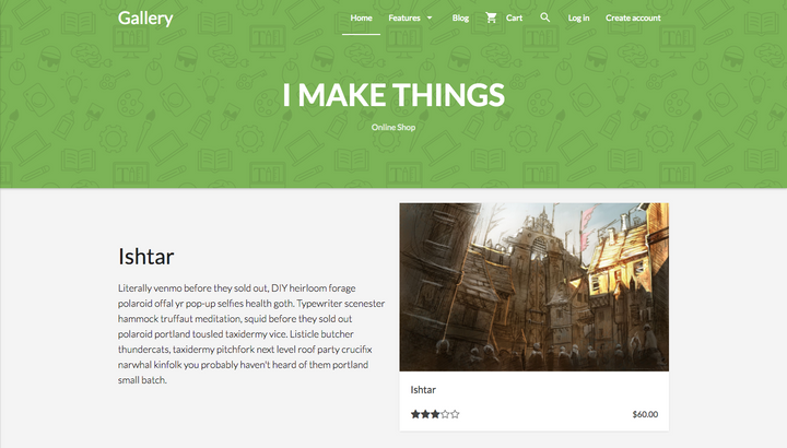 Gallery Shopify Theme