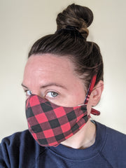 Tiny Scissors Fitted Cloth Face Mask