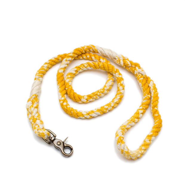 Sunflower Marbled Rope Leash