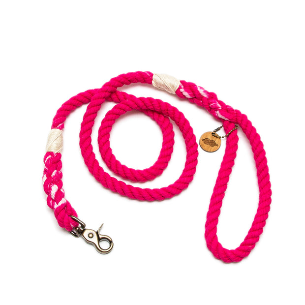 Hot Pink Rope Leash