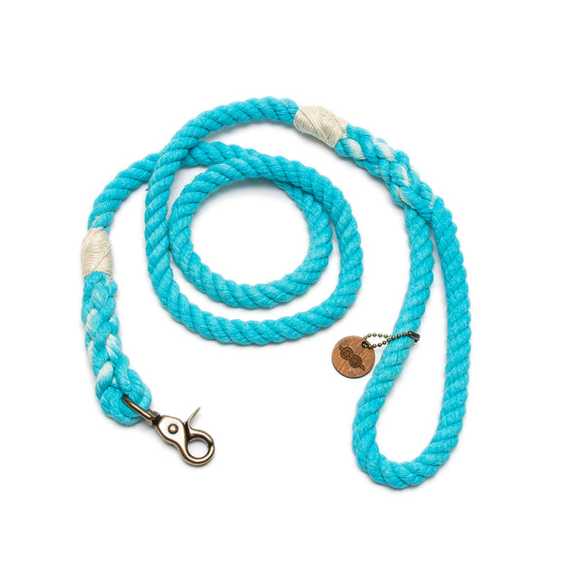 Turquoise Rope Leash